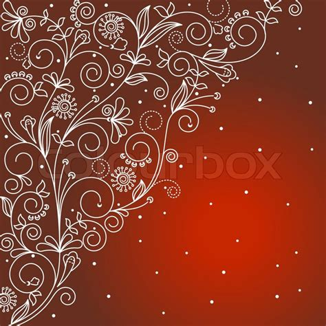 abstract floral background  textile  invitation card