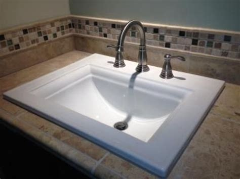 Rectangular Drop In Bathroom Sink Designed For Your House