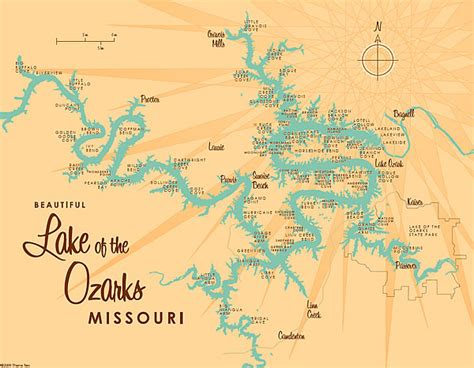 Lake Of The Ozarks Boating Map by Lake Of The Ozarks Midwest Finesse