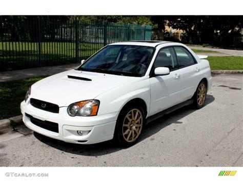 white subaru wrx 2004 aspen white subaru impreza wrx sedan 65680980