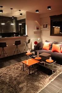 Bar D Appartement : d co salon pour appartement exemples d 39 am nagements ~ Teatrodelosmanantiales.com Idées de Décoration