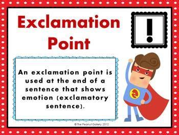 punctuation posters   sentence superhero