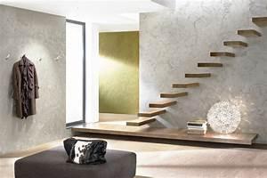Wand Metallic Effekt : effekt tapete metallic verschiedene ideen ~ Michelbontemps.com Haus und Dekorationen