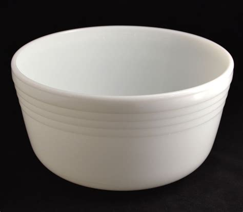 milk glass bowl pyrex ribbed milk glass mixing bowl sold on ruby lane