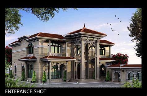 villa khaled exterior design  doha qatar  behance