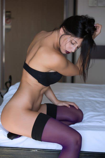 Purple Thigh Highs And Purple Lips Porn Pic EPORNER