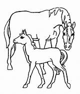 Coloring Pages Farm Horse sketch template
