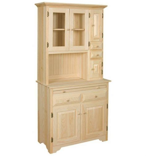 amish unfinished solid pine hoosier china pantry storage