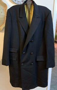 eagle clothes black wool double breasted mens overcoat