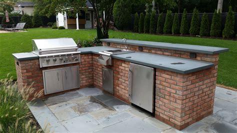 brick outdoor kitchen outdoor brick kitchen interiors design