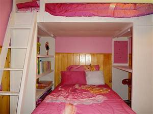 Teens Bedroom Teenage Girl Ideas Diy Queen Loft Bed With ...