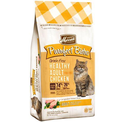 best grain free cat food merrick purrfect bistro grain free healthy adult chicken cat food 4 lbs
