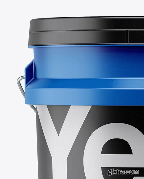 Hey there lovely readers & fans! 5L Matte Paint Bucket Mockup - Front View » GFxtra