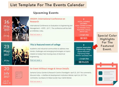 event schedule template the events calendar shortcode and templates org