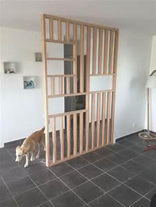 Separateur De Piece Bois : diy cloison bois verri re claustra s paration pi ce ~ Farleysfitness.com Idées de Décoration
