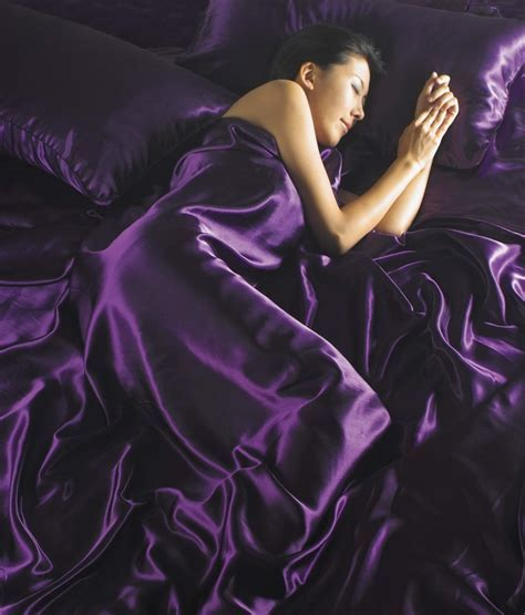 AUBERGINE PURPLE COLOUR STYLISH SATIN LUXURY BEDDING DUVET