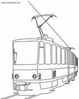 Train Coloring Electric Pages Cartoon Passenger Tram Clipart Bullet Express Polar Colouring Bridge Children Cat Fan Trains Cartoons Printable Clip sketch template