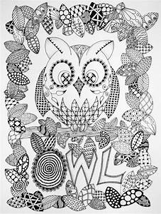 7 Best Images of Zentangle Animals Coloring Pages ...