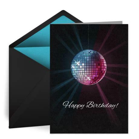 birthday disco ball  birthday card   happy