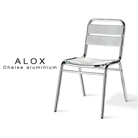 chaise de terrasse chaise aluminium alox pour terrasse de café et jardin