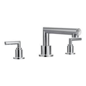 moen arris 2 handle deck mount high arc roman tub faucet