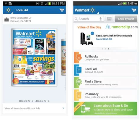 walmart app for android top 10 iphone and android shopping apps for 2013