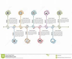 Timeline Infographics Stock Vector
