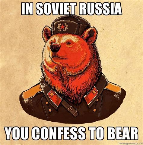 Gay Bear Meme - image 751177 soviet bear know your meme