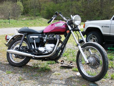 1976 Triumph T140 750cc Bonneville Chopper Cafe Racer For Sale