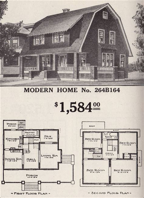 shed floor plan colonial revival sears modern home no 264b164