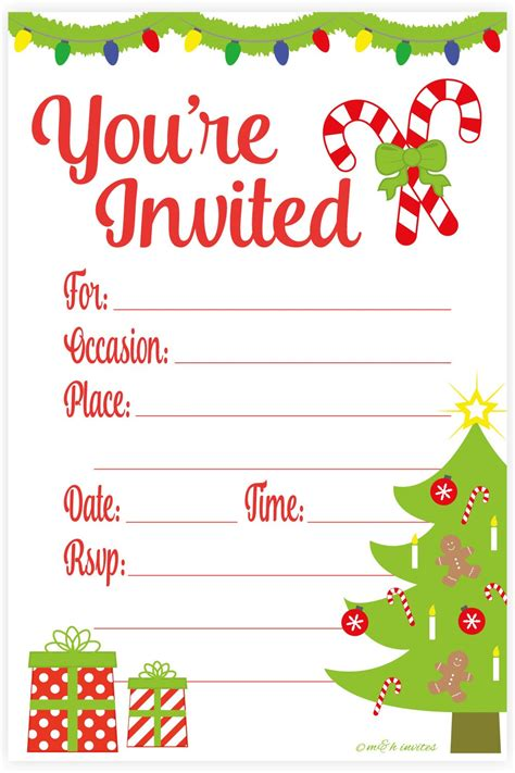 Amazon com: Snowflake Classic Christmas Invitations Fill