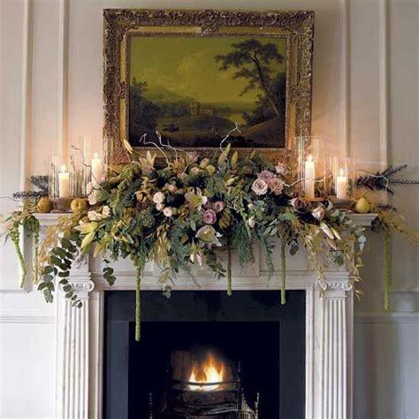 christmas fireplace mantels images  pinterest