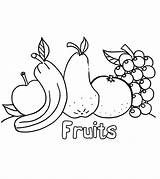 Apple Coloring Pages Fruits Vegetables Ones Momjunction sketch template