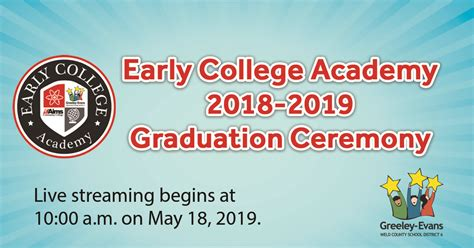 livestream early college academy graduation ceremony