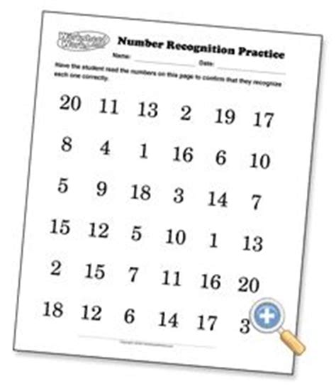 number recognition sheets preview for practicing at home with parents math pinterest