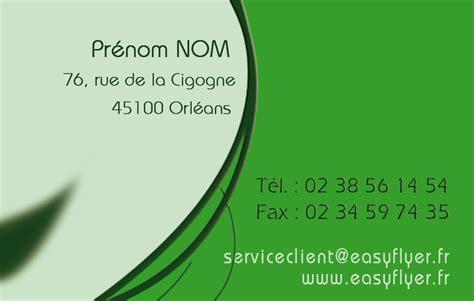 modele carte de visite professionnelle gratuit document