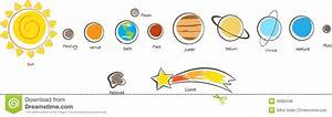 Planets clipart solar system - Pencil and in color planets ...