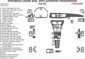 Mitsubishi Lancer 2006 Full Interior Dash Kit  With