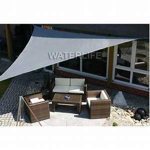 Voile D Ombrage Triangulaire 5m : voile d 39 ombrage 5x5x5m imperm able toile taud achat ~ Dailycaller-alerts.com Idées de Décoration