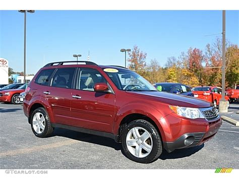 subaru forester red 2010 camellia red pearl subaru forester 2 5 x limited