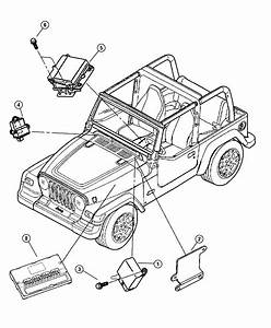 2005 Jeep Wrangler Module  Immobilizer   Located On The