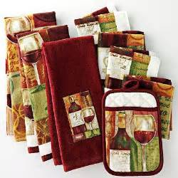 wine kitchen towels pot holders wine themed kitchen pinterest barrow kohls and kitchens