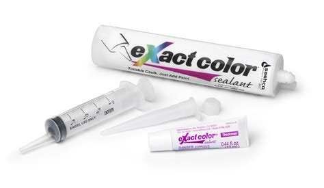 exact color  sashco colored caulk  custom colors