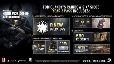 rainbow six siege year 3 pass is now available to buy