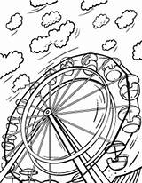 Coloring Ferris Wheel Pages Coloringcafe sketch template