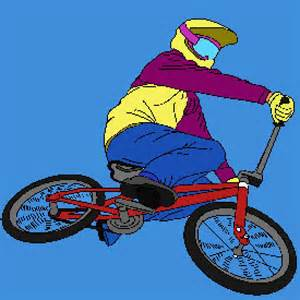 Freestyle BMX Bike Coloring Page