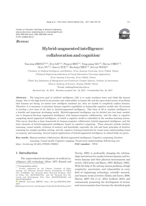 (PDF) Hybrid-augmented intelligence: collaboration and