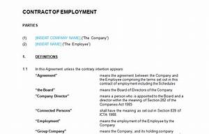 employment contract full time template bizorb With full time employment contract template