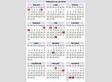 Kalendarz 2018 2 2019 2018 Calendar Printable with