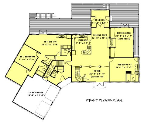 floor plans with inlaw apartment in apartment floor plan planos ii